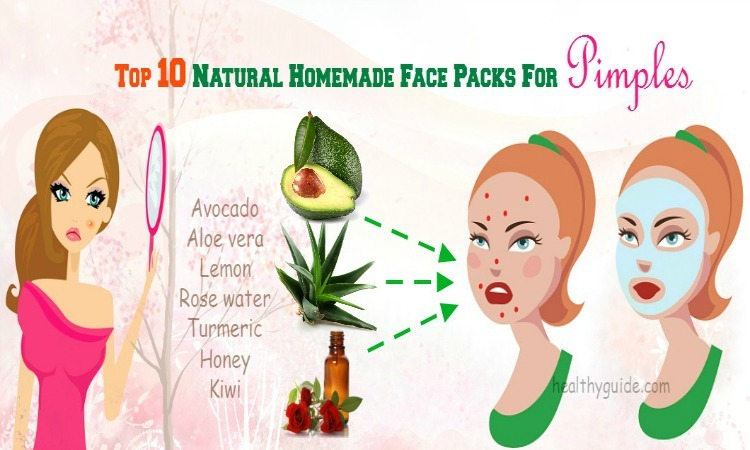 Top 10 Natural Homemade Face Packs for Pimples for Oily & Dry Skin