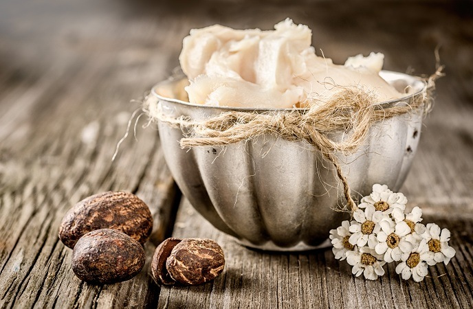 home remedies for split ends-shea butter or cocoa butter