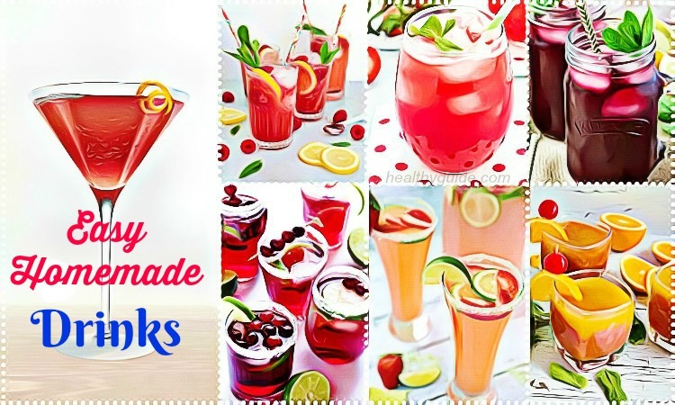 List of 29 Best Easy Homemade Drinks Recipes to Lose Weight