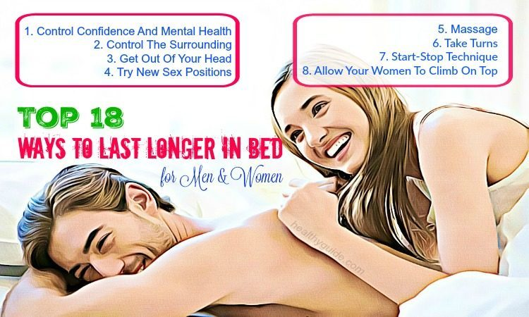 Top 18 Ways to Last Longer in Bed for Men and Women