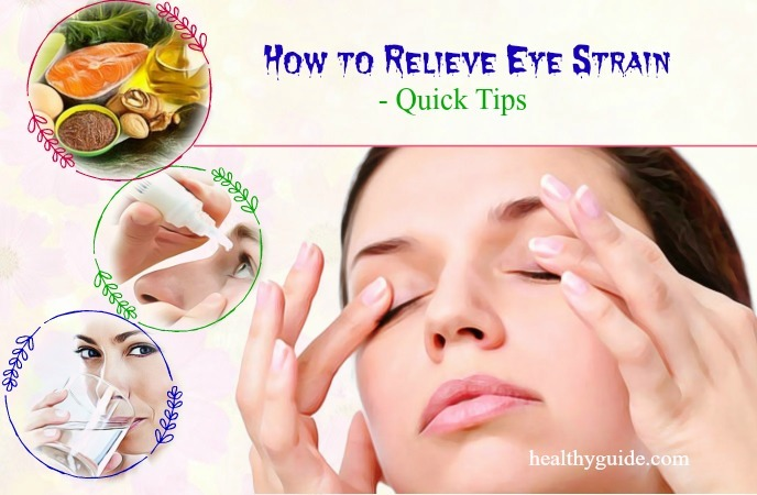 how to relieve eye strain