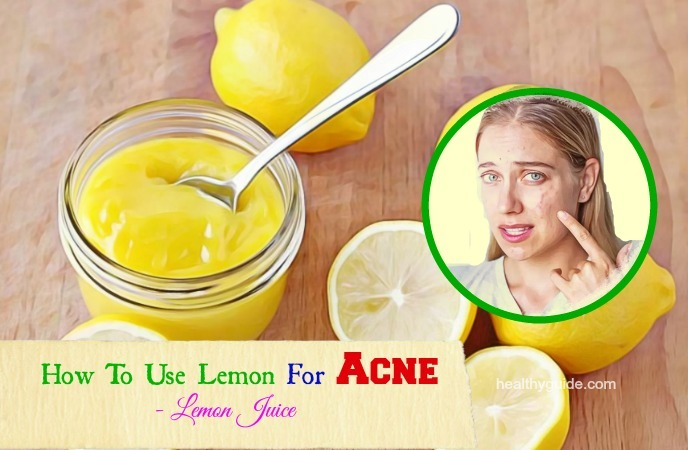 how to use lemon for acne